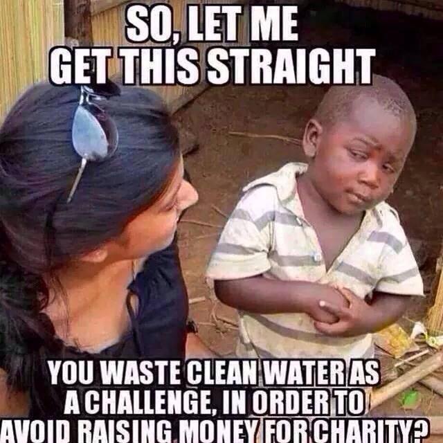 Ice Bucket Irony